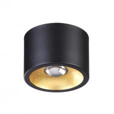 3878/1CL HIGHTECH ODL19 153 черный с золотом Потолочной накладной светильник GU10 1*50W 220V GLASGOW